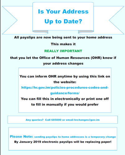 PiP Change of Address Poster - Is your address up to date?